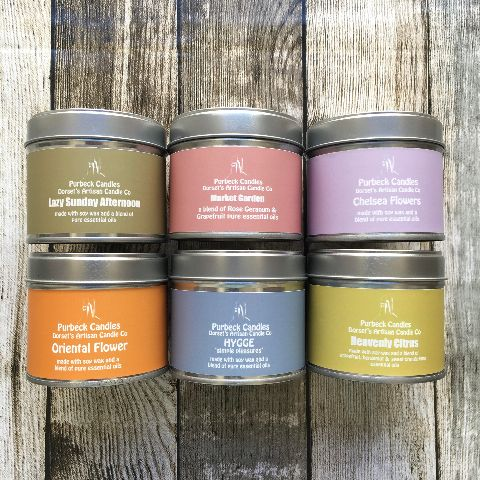Essential Oil Candles in Tins
